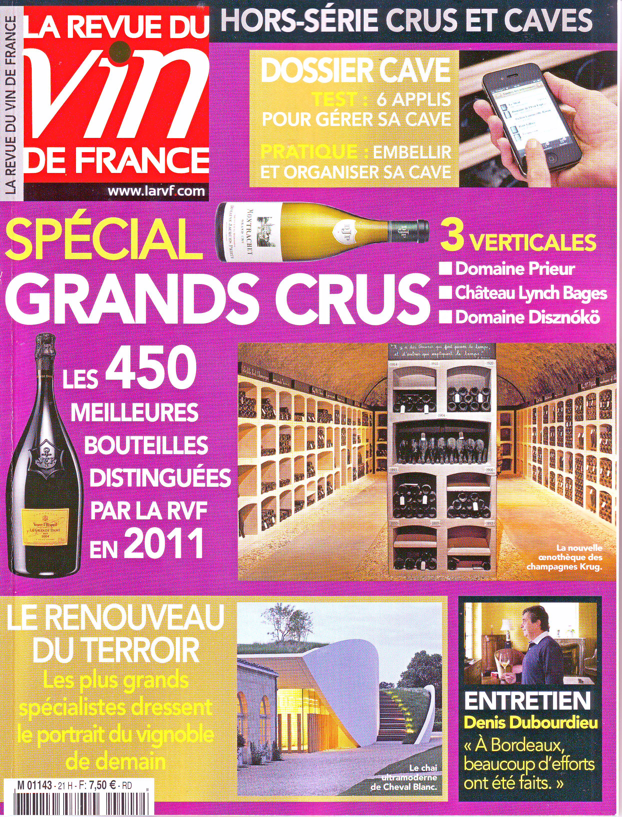 La revue du vin de france blog officiel du champagne for Revue des vins de france